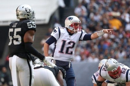 New England Patriots quarterback Tom Brady calling an audible (Getty Images)