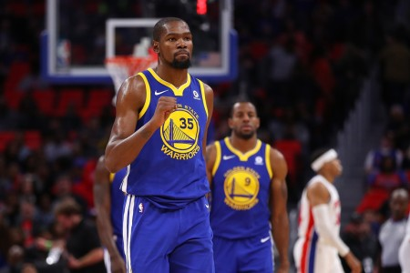 Golden State Warriors forward Kevin Durant celebrates (Getty Images)