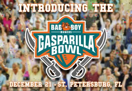 Bad Boy Mowers Gasparilla Bowl announcement picture in August 2017 (Photo by Bad Boy Mowers)