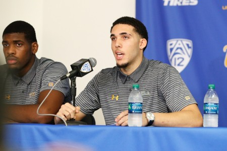 LiAngelo Ball and Cody Riley, along with former teammate Jalen Hill speak to the media after arriving back in the United States (Getty Images)