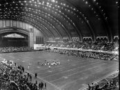 Utah Utes and the West Virginia Mountaineers playing in the 1964 Liberty Bowl in Atlantic City, New Jersey at the Atlantic City Convention Hall (Photo by the Associated Press)
