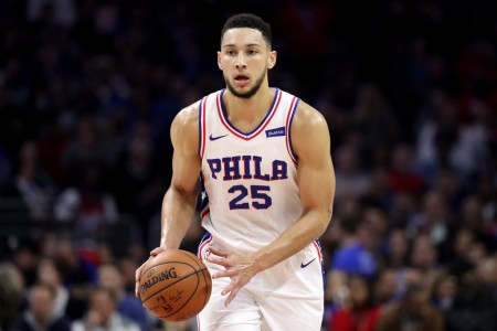 Philadelphia 76ers guard Ben Simmons dribbling the ball (Getty Images)