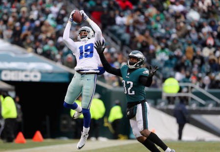 Dallas Cowboys wide receiver Brice Butler making a reception against the Philadelphia Eagles. (Getty Images)