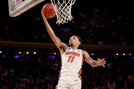 Florida Gators guard Chris Chiozza scores a lay up (Getty Images)