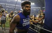 Dallas Cowboys running back Ezekiel Elliott leaving the field (Getty Images)