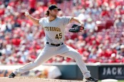 Pittsburgh Pirates pitcher Gerrit Cole throwing a pitch (Getty Images)