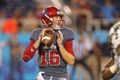 Florida Atlantic quarterback Jason Driskel making a pass (Getty Images)