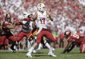 Iowa State Cyclones quarterback Kyle Kempt throws a pass against the Oklahoma Sooners (Getty Images)