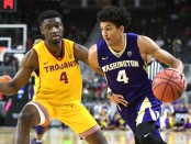 Washington Huskies guard Matisse Thybulle going to the basket (Getty Images)