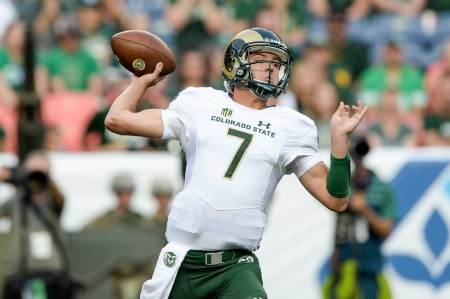 Colorado State Rams quarterback Nick Stevens throwing a pass (Getty Images)