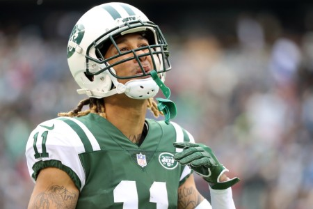 Robby Anderson is seen here reacting after his team failed to convert a third down (Getty Images)