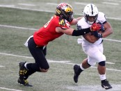 Penn State Nittany Lions running back Saquon Barkley rushes against the Maryland Terrapins (Getty Images)