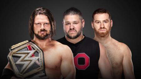 AJ Styles, Kevin Owens and Sami Zayn (Photo by the WWE)