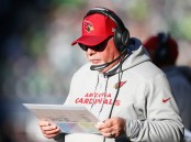 Arizona Cardinals head coach Bruce Arians during the season finale in the Seattle Seahawks on Sunday (Getty Images)
