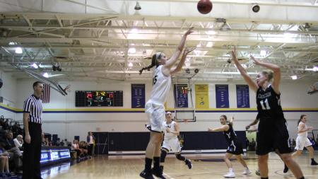 TCNJ freshman Shannon Devitt scored 13 points off the bench (Photo by TCNJ Sports Information Office)