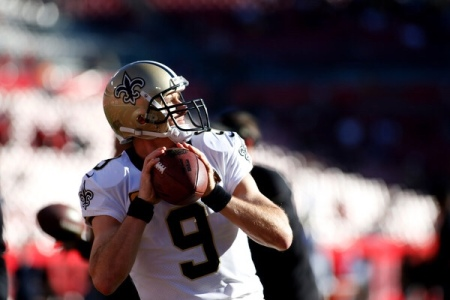 New Orleans Saints quarterback Drew Brees getting ready to throw a pass (Getty Images)