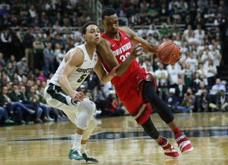 Ohio State Buckeyes forward Keita Bates-Diop goes to the basket (Getty Images)