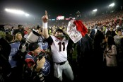 Georgia Bulldogs quarterback Jake Fromm celebrates the Rose Bowl win (Getty Images)