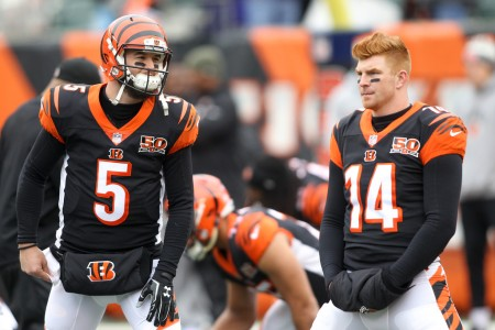 Cincinnati Bengals quarterbacks Andy Dalton and A.J. McCarron (Getty Images)