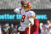 Washington Redskins quarterback Kirk Cousins warming up before the game with the New York Giants (Getty Images)