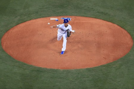 Yu Darvish pitching for the Los Angeles Dodgers (Getty Images)