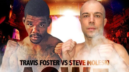 Stephen Moleski vs. Travis Foster (Photo by Art of War Cage Fighting 5 promotional card)