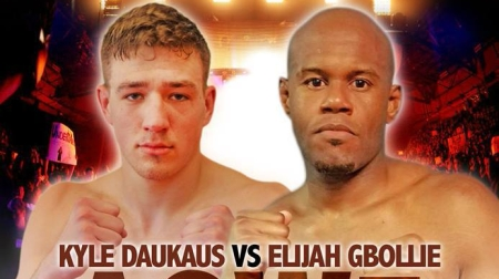 Kyle Daukaus and Elijah Gbollie Jr. (Photo by the Art of War Cage Fighting 5 promotional card image)