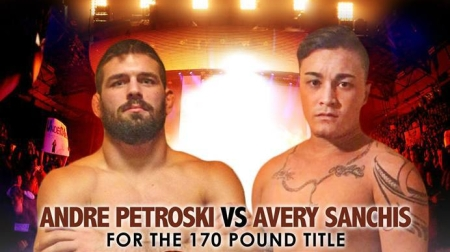 Andre Petroski and Avery Sanchis (Photo by Art of War Cage Fighting 5 Promotional image)