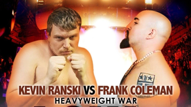 Kevin Ranski and Frank Coleman heavyweight promotional poster (Photo by Art of Ware Cage Fighting)