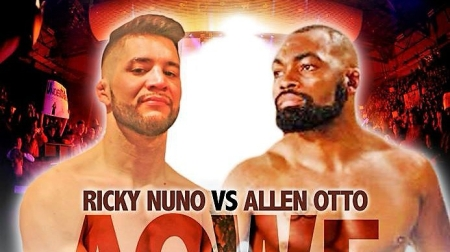 Ricky Nuno vs. Allen Otto promotional card image (Photo by Art of War Cage Fighting)
