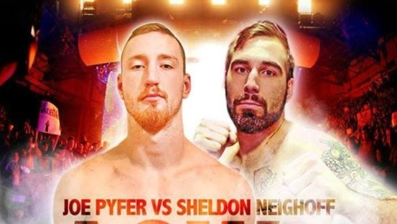 Joe Pyfer vs. Sheldon Neighoff promotional card image (Photo by Art of War Cage Fighting)
