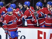 Tomáš Plekanec is seen here after scoring a goal as a member of the Montreal Canadiens (Getty Images)