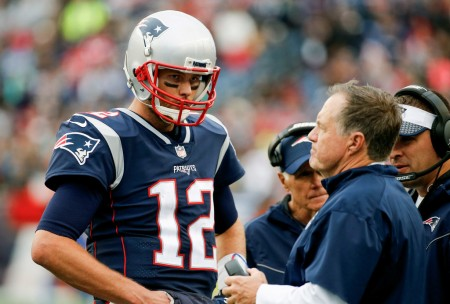 Tom Brady and Bill Belichick on the Patriots sidelines (Getty Images)