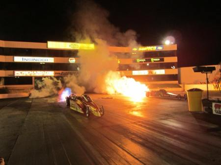 Sarah Edwards in the Queen of Diamonds Jet Dragster at Old Bridge Township Raceway Park (Photo by Sarah Edwards)