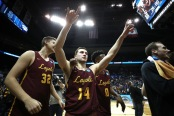 Ben Richardson celebrated the win over the Nevada Wolf Pack (Getty Images)