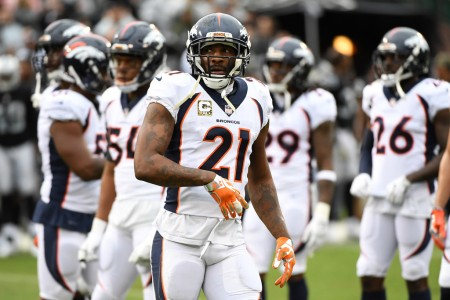 Aqib Talib is seen here as a member of the Denver Broncos (Getty Images)