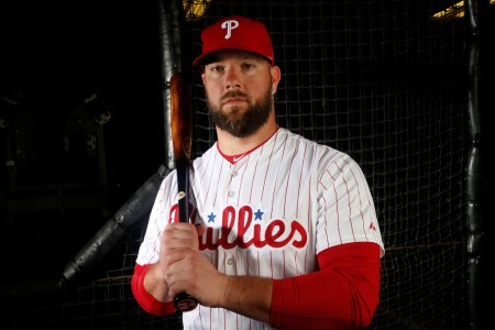 Cameron Rupp is seen here as a member of the Philadelphia Phillies (Getty Images)