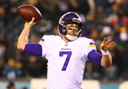 Case Keenum is seen here as a member of the Minnesota Vikings (Getty Images)