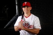 Scott Kingery is seen here from the Phillies Photo Day (Getty Images)