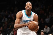 Dwight Howard is seen here attempting to take a shot against the Brooklyn Nets (Getty Images)