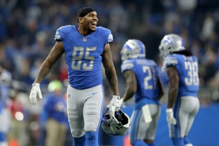 Eric Ebron is seen here as a member of the Detroit Lions (Getty Images)