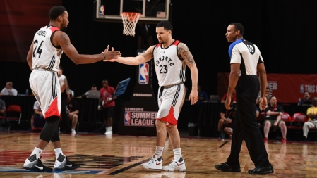 Fred VanVleet is seen here coming in during a Summer League game with the Toronto Raptors (Getty Images)