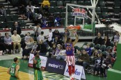 Animal dunking the basketball against the Washington Generals (Photo by Anthony Caruso III)