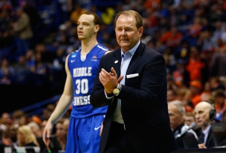 Kermit Davis is seen here as the Middle Tennessee State head coach (Getty Images)