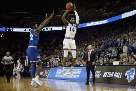Kansas escapes with a win over SetonHall