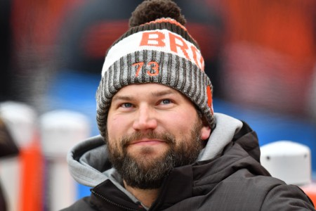Joe Thomas is seen here as a member of the Cleveland Browns (Getty Images)