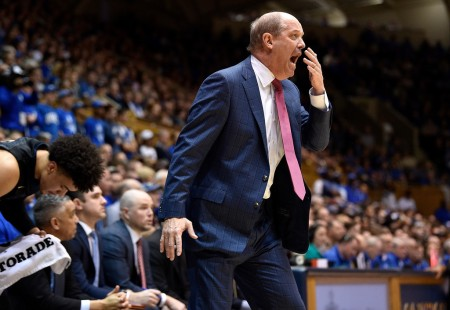 Kevin Stallings is seen here as the Pittsburgh Panthers men's basketball head coach (Getty Images)