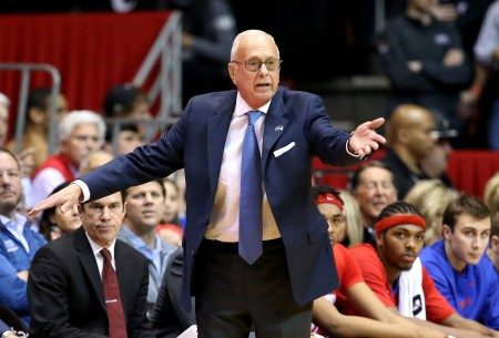 Larry Brown is seen here as the SMU Mustangs head coach (Getty Images)