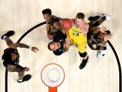 Michigan Wolverines big man Moritz Wagner is seen here attempting a shot against the Loyola-Chicago Ramblers (Getty Images)