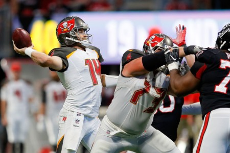 Ryan Fitzpatrick is seen here as a member of the Tampa Bay Buccaneers (Getty Images)